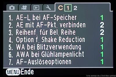 Benutzerfunktionen S. 1