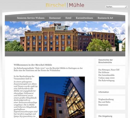 Homepage Birschel Mühle, Hattingen