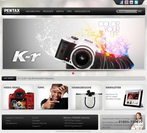 Pentax-Homepage 2012