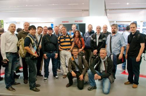 Mitglieder des DigitalFotoNetz am Ricoh Pentax-Stand