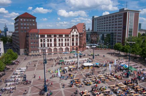 Fahrradfest auf dem Friedensplatz
