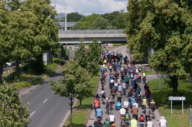 Fahrradsternfahrt 2014: Westfalenhallen