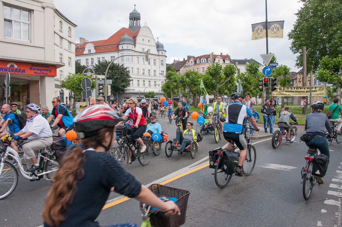 Fahrradsternfahrt Dortmund 2014
