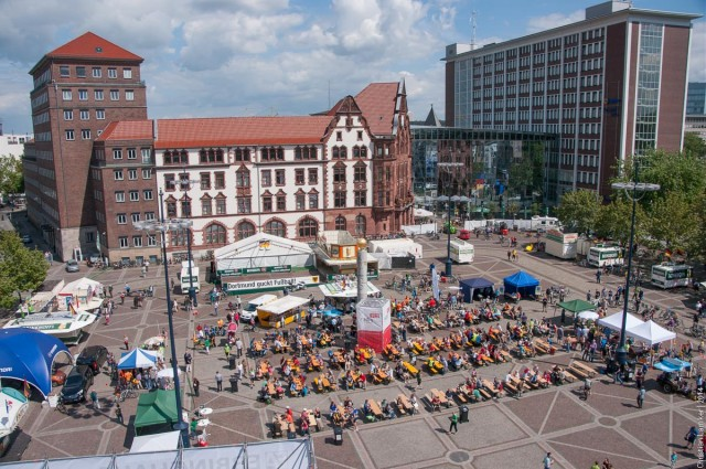 Fahrradsternfahrt 2014: Friedensplatz