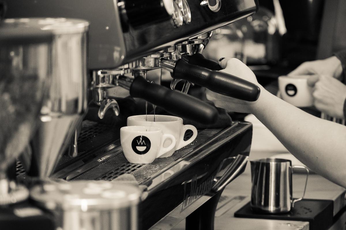 Espresso läuft...
